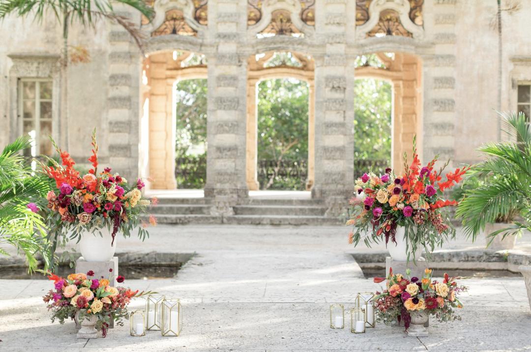 A unique Vizcaya Museum Wedding in Miami The Creatives Loft Weddings Miami Ceremony at Garden Mount