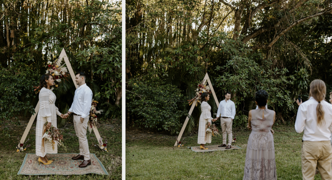 Miami Bohemian Elopement Wedding The Creative's Loft Bride and Groom