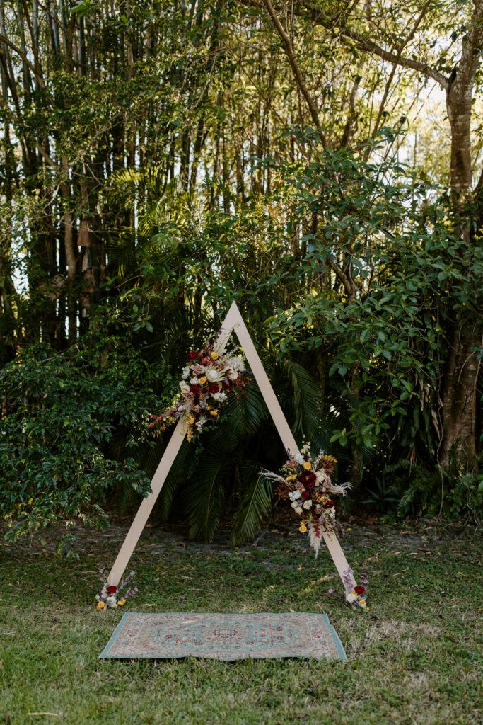 Miami Bohemian Elopement Wedding The Creative's Loft Ceremony Decor