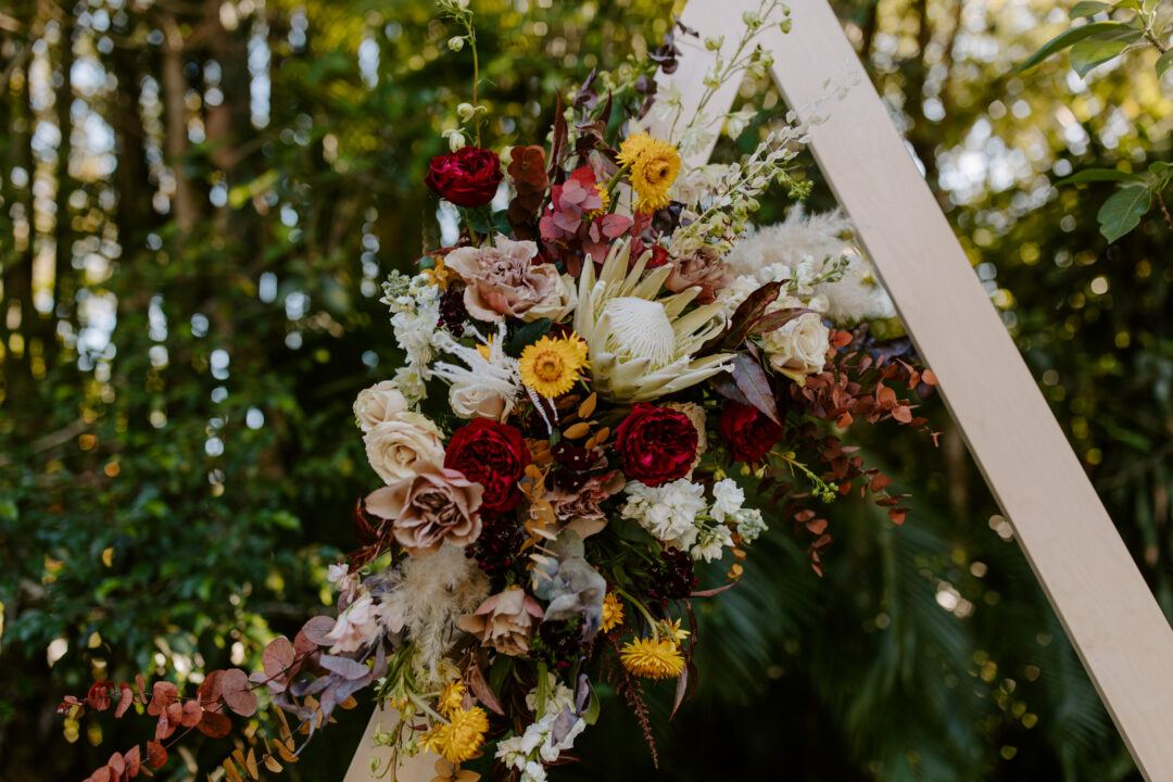 Miami Bohemian Elopement Wedding The Creative's Loft Floral Detail in Arbor