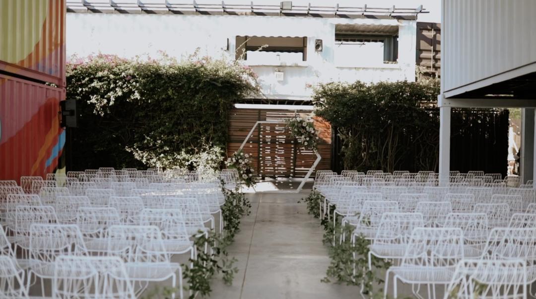 Industrial + Romantic Wedding at MAPS Backlot Wynwood