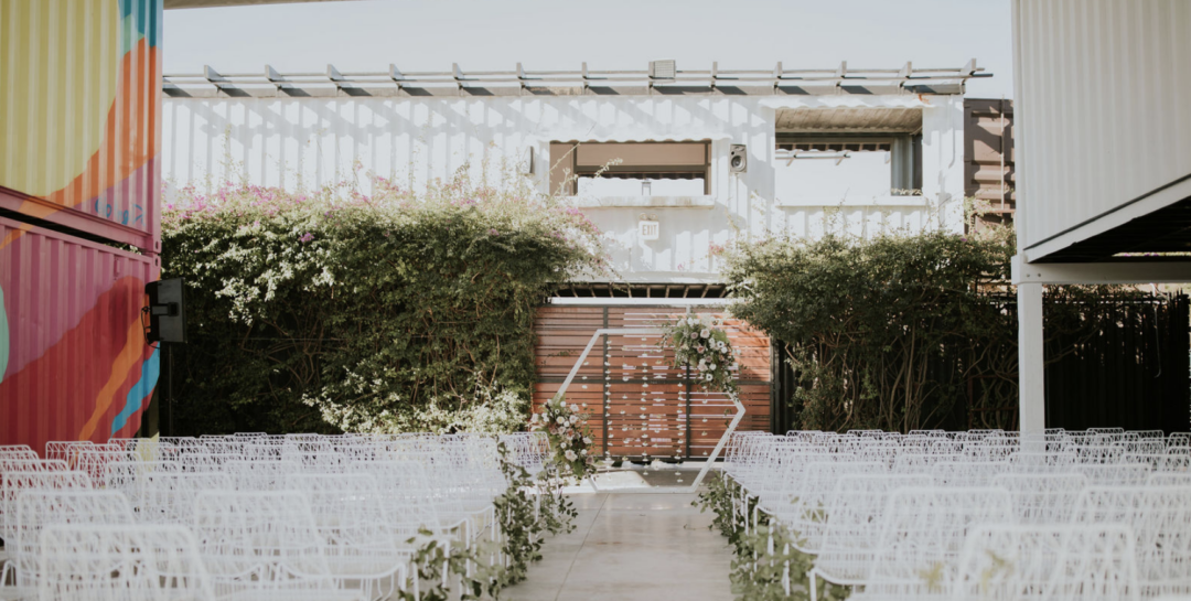 Featured on Junebug Weddings our Chic Industrial Wedding at MAPS Miami
