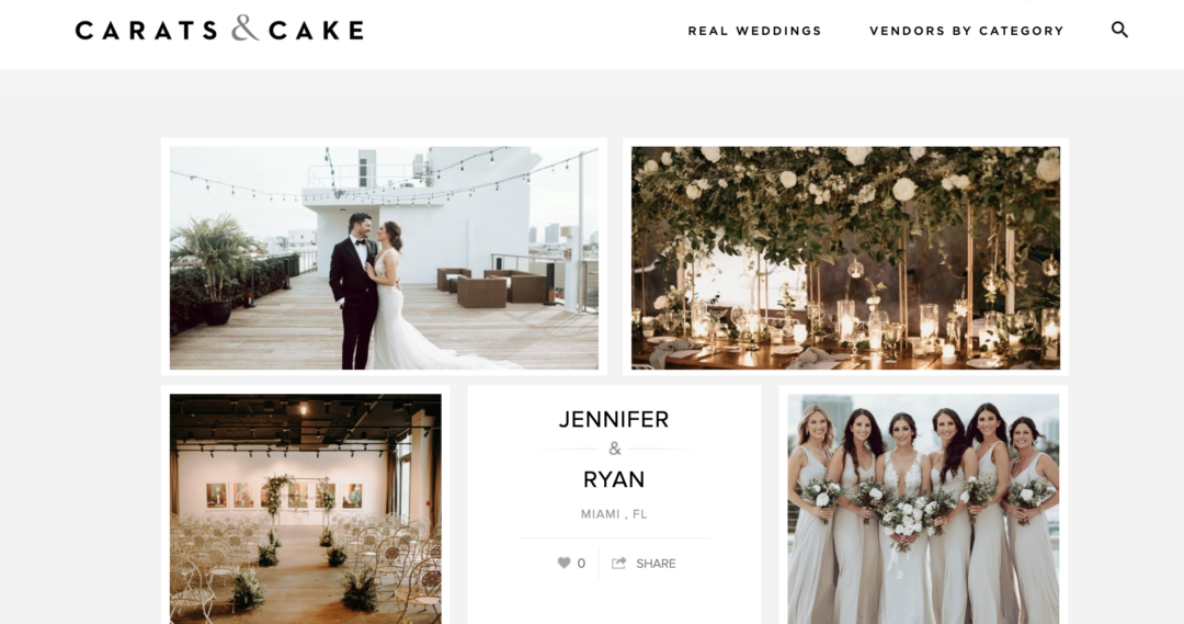Featured in Carats and Cake our Romantic Beach Wedding