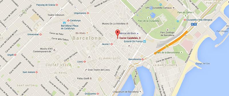barcelona spain map 2