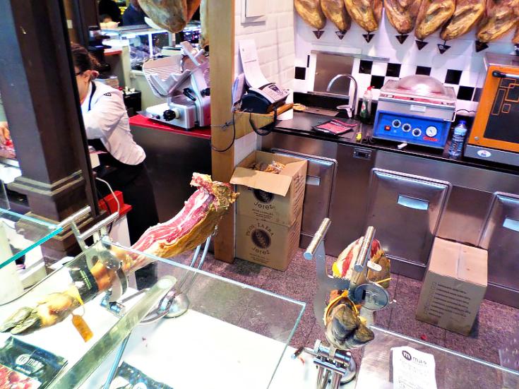 san miguel market madrid spain butcher