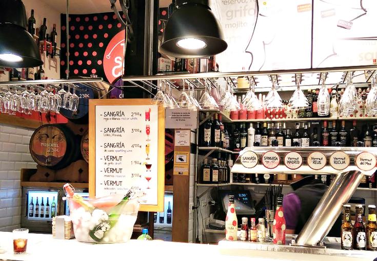 san miguel market madrid spain wine bar