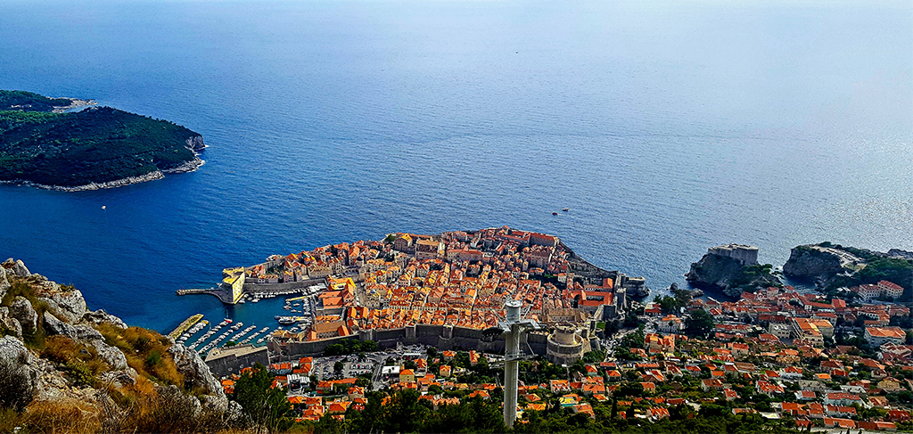 dubrovnik croatia cable car nt srd hill see thru ps