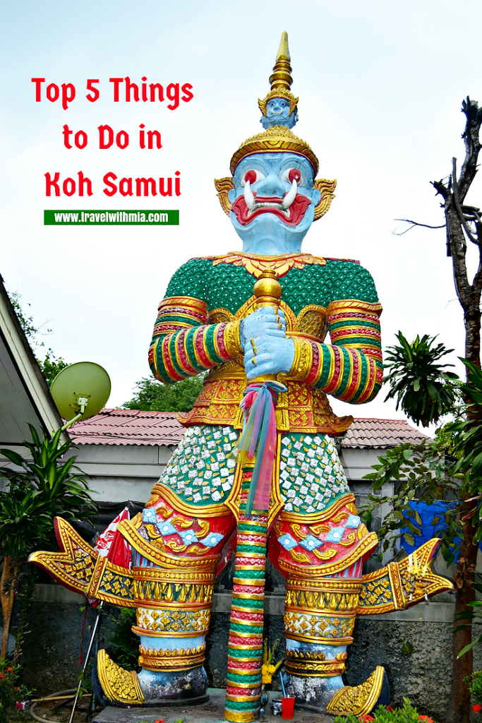 5 things to do in Koh Samui Pinterest-