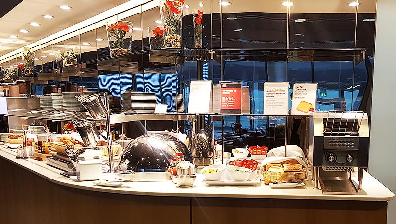 Lufthansa Business Class Lounge Frankfurt - Travel with Mia - Buffet 2