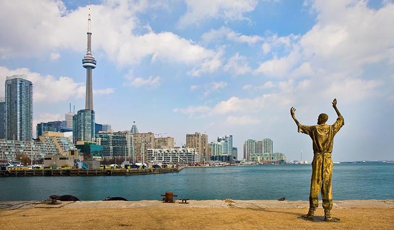 Ireland Park Toronto statue