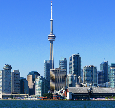 toronto skyline and water front