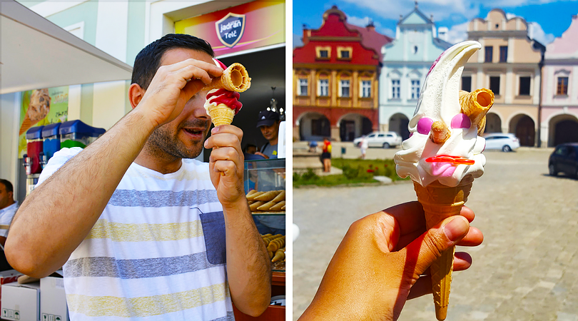 Travel with Mia - Ice Cream Collage - city in the czech republic