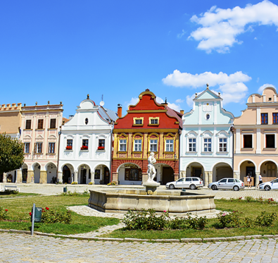 Travel with Mia - Telc Czech Republic - Hidden Gem colorful