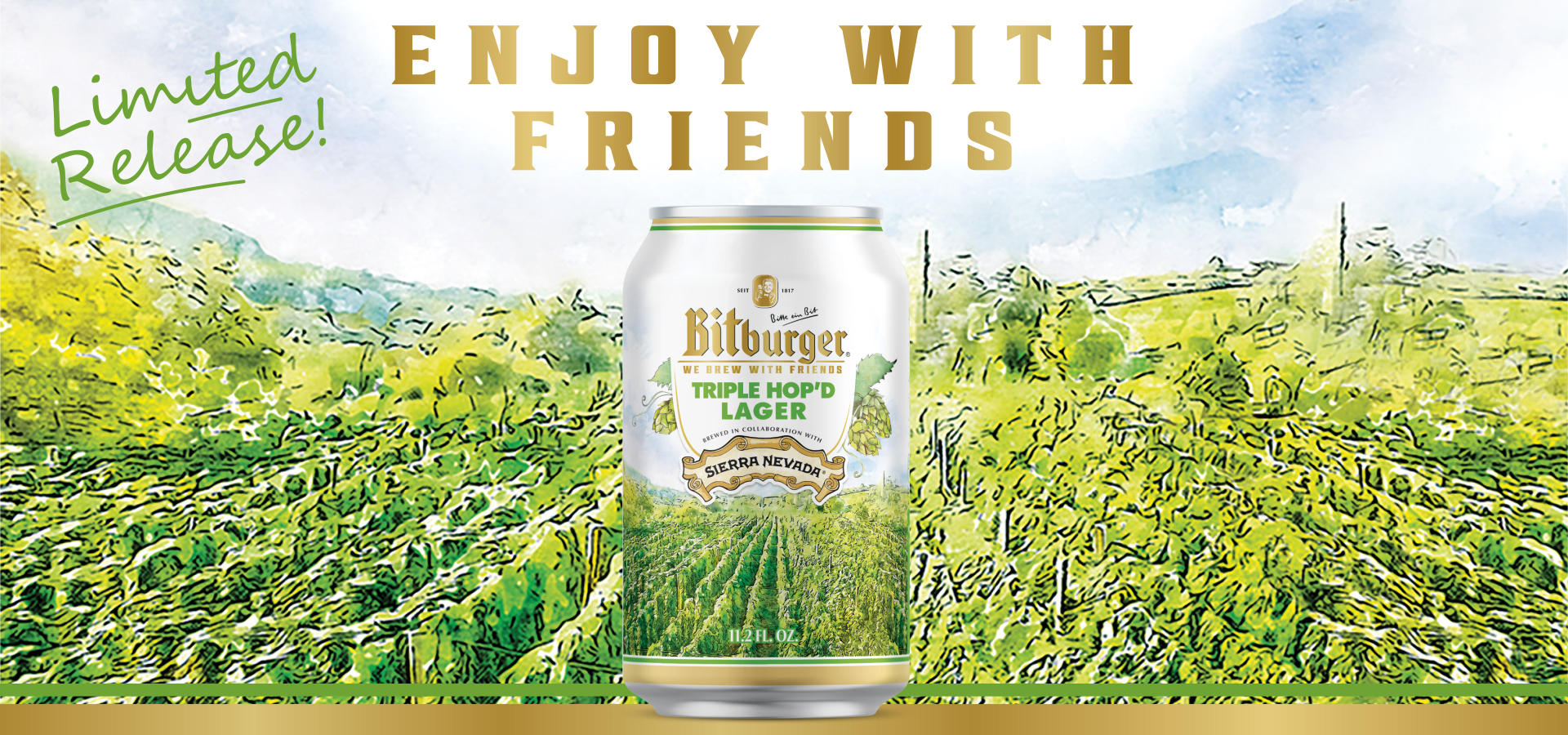 Bitburger Brewery And Sierra Nevada Collaborate On Triple Hop'd Lager For March Release