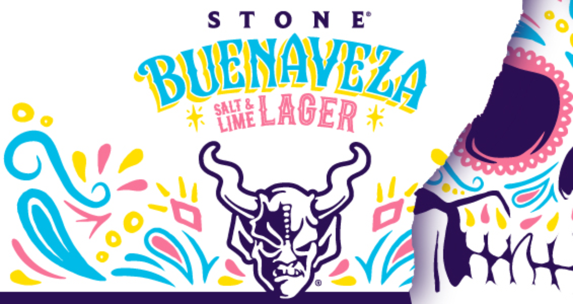 Stone Brewing Buenaveza Salt and Lime Lager horizontal main brand id image