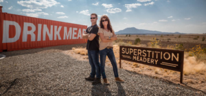 cover image of Jeff and Jenn Hebert, owners of superstition meadery
