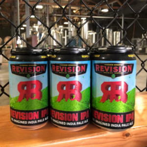 photo of a six pack of revision brewing ipa beer inside the revision brewery in reno, nevada