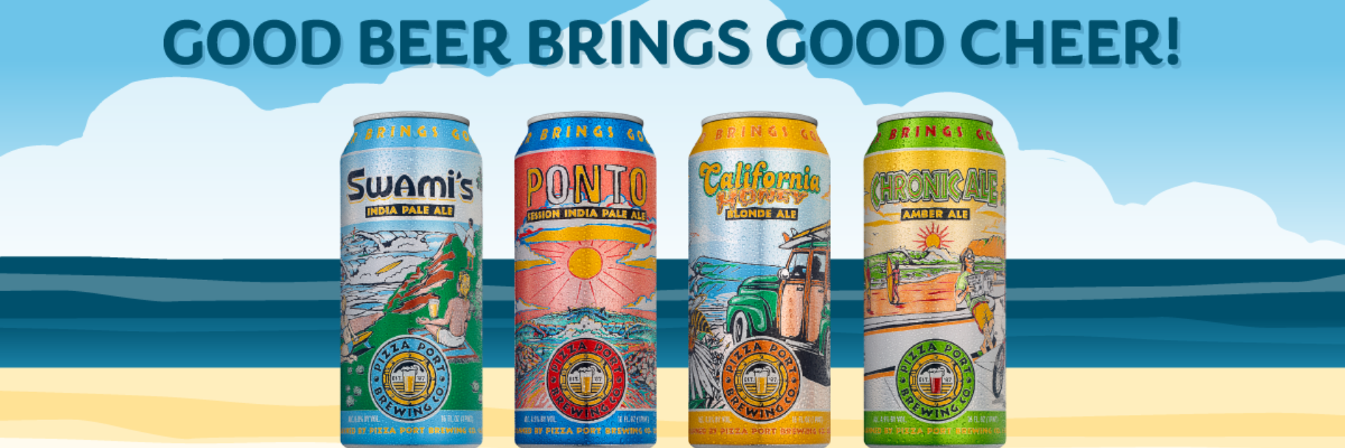 Pizza Port Brewing Co. Introduces New Look to Distributed Core Brands