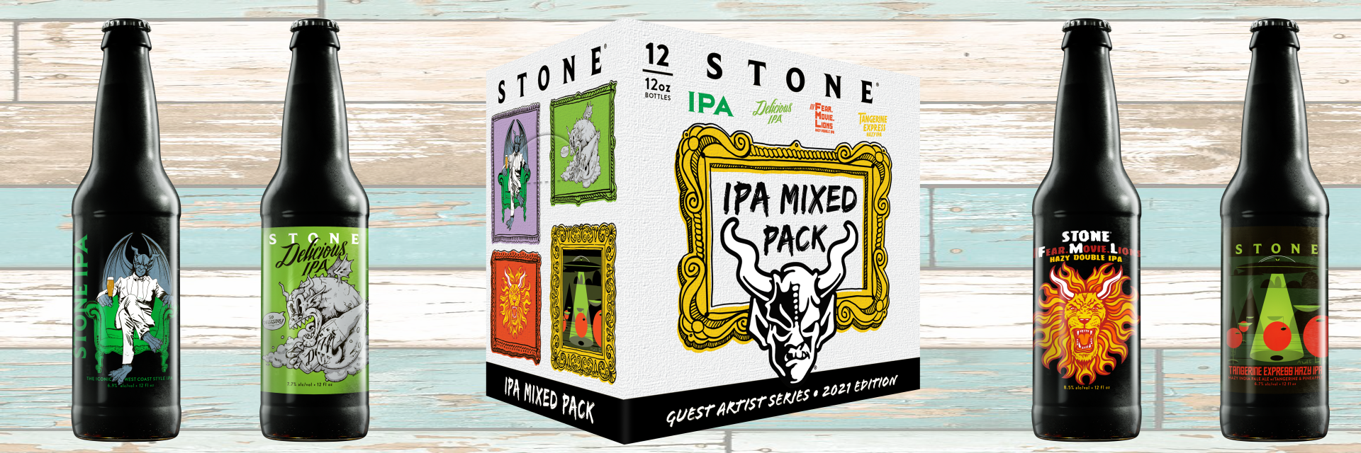 Stone Brewing Lends Labels to Artists in Guest Artist IPA Mixed Pack