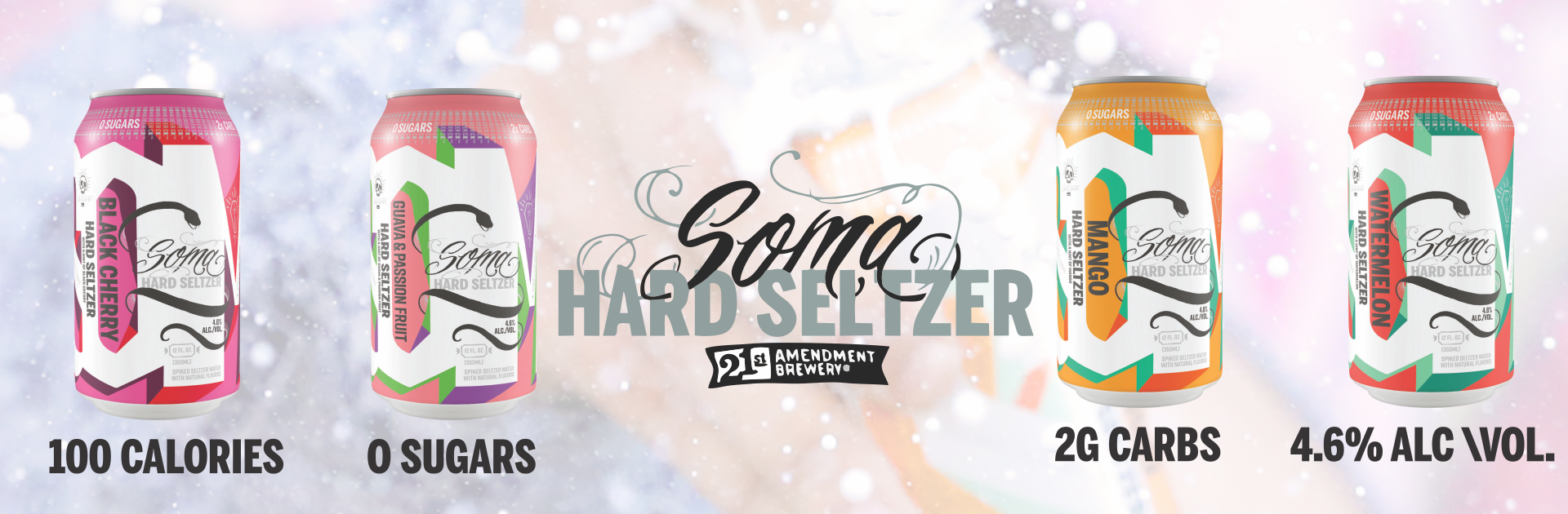 21st Amendment Brewery Announces Release of SOMA Hard Seltzer in 32 States