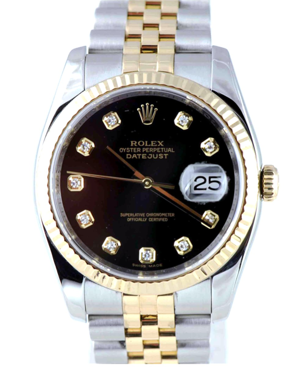 Men's 36mm Stainless Steel & 18Kt Gold Rolex DateJust Model No: 116233