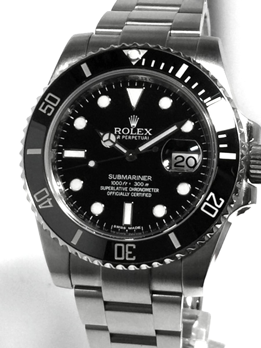 Rolex Submariner with Date Black Ceramic Model No: 116610