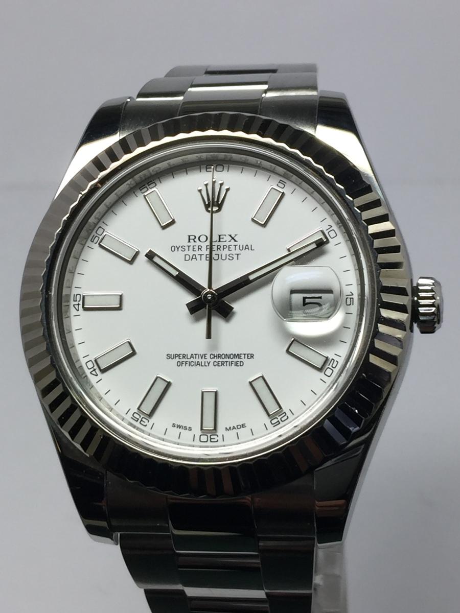 Rolex Men's Steel 41mm DateJust II with Heavy Style Oyster Bracelet Ref: 116334
