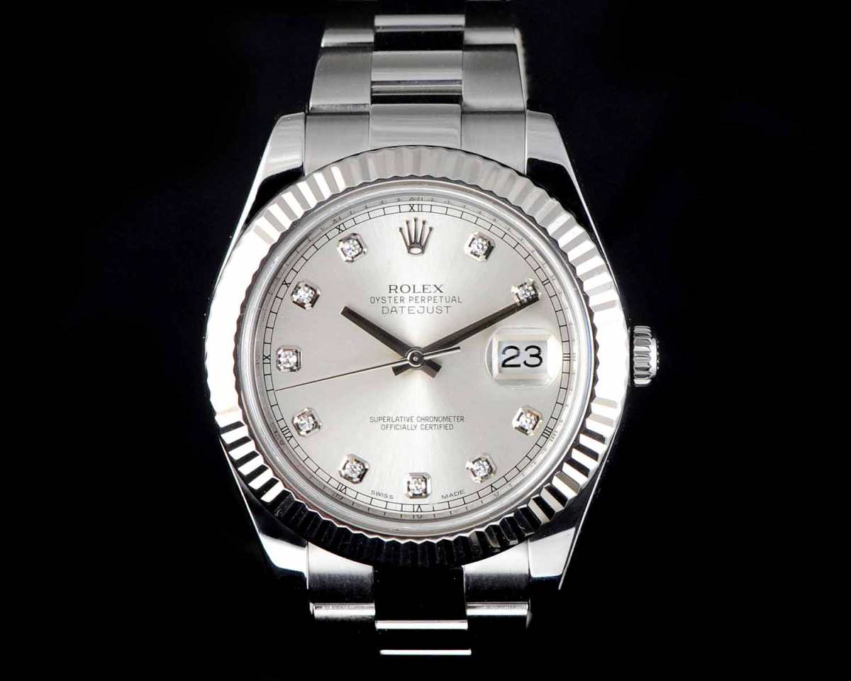 ROLEX DATEJUST II OYSTER PERPETUAL 116334 WITH FACTORY DIAMOND DIAL