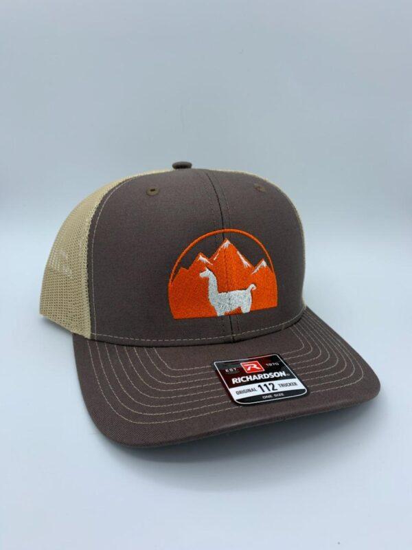 brown llama hat