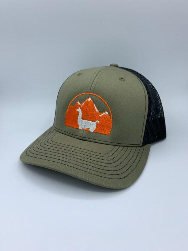 loden and black llama hat