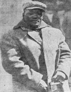 World heavyweight boxing champion Jack Johnson photographed in San Francisco, California in 1910.