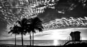 Altocumulus clouds across the morning sky.
