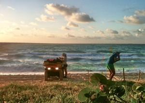 Sea Turtle Patrol, marking a nest location.