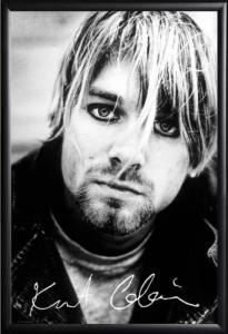 Framed Kurt Cobain - Portrait And Signature.