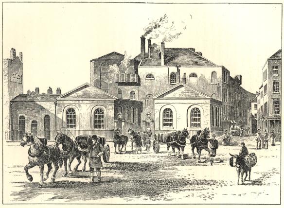 Meux's Horse Shoe Brewery, Tottenham Court Road, 1830