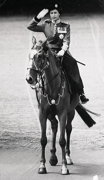 Queen on horse