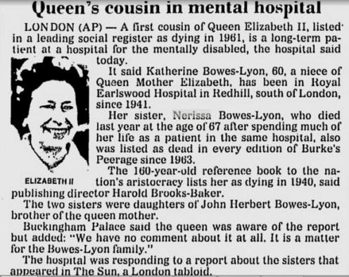 Queen's cousins