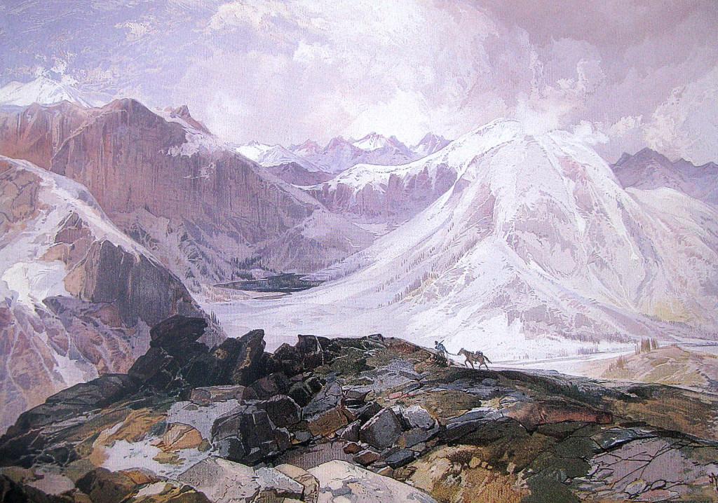 Thomas Moran's painting of the Mosquito Trail, Rocky Mountains, Colorado