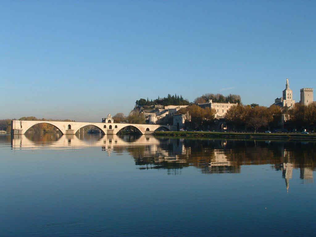 Le_pont_d'Avignon_depuis_l'île_de_la_Barthelasse-Rhone