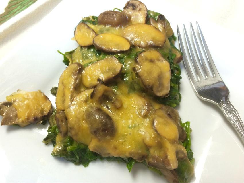 Spinach mushroom casserole 3sm