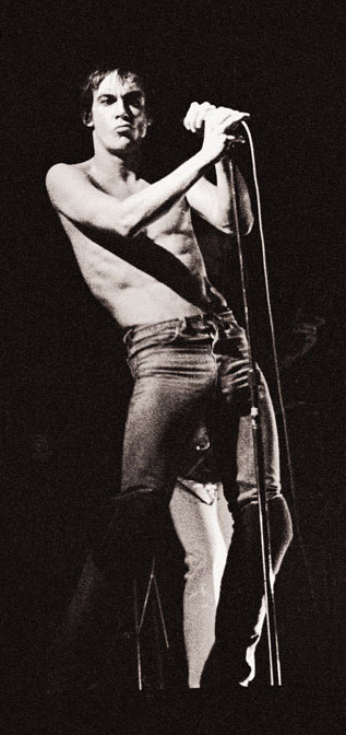Iggy Pop, October 25, 1977 at the State Theatre, Minneapolis, MN - Photo by Michael Markos