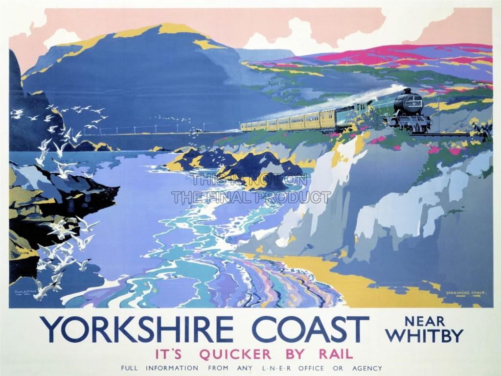 Yorkshire Coast - Vintage Travel Poster