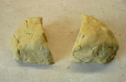 """Divide the pastry into two. Roll out one piece to a 9"""" long x 4"""" wide rectangle"""