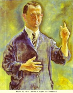 George Grosz. Self-Portrait, Warning. 1927. Oil on canvas. 98 x 79 cm. Galerie Nierendorf, Berlin, Germany.