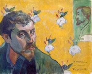 Self-Portrait Dedicated to Vincent van Gogh (Les Misérables), 1888. Oil on canvas. 45 x55 cm