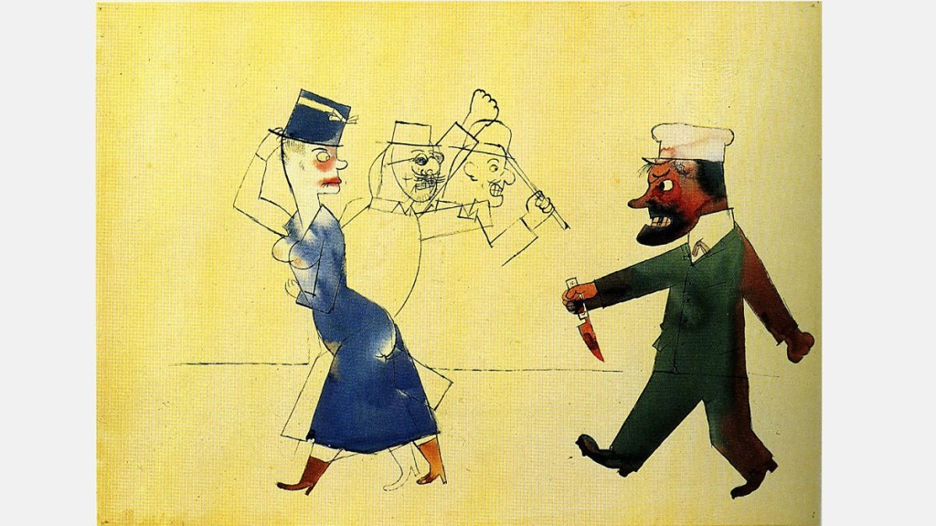 George Grosz - John, der Frauenmörder (John, the Woman Slayer), 1916