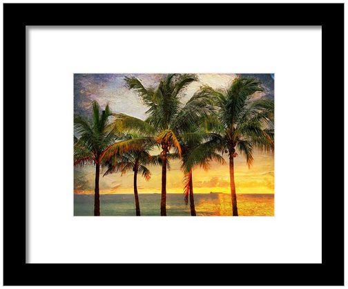 palm tree artwork framed