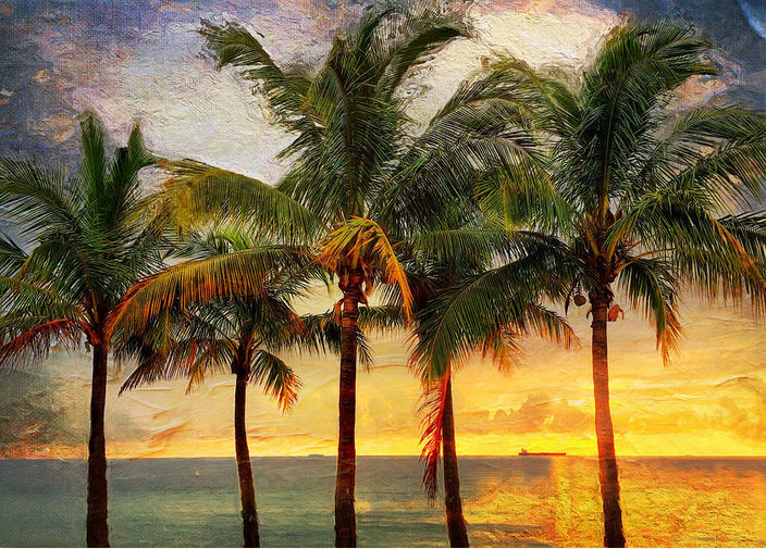 palm tree artwork