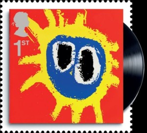CAnnell's sleeve art for Primal Scream honoured on a stamp by the Royal Mail.