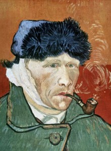 Self-portrait with Bandaged Ear and Pipe, painted in 1889, by Vincent van Gogh (1853-90)